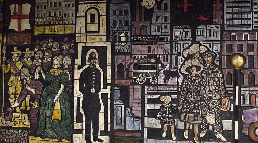 "Adam Kossowski, ""The History of the Old Kent Road"" 1965, fragment, fot. Caroline Findlay"