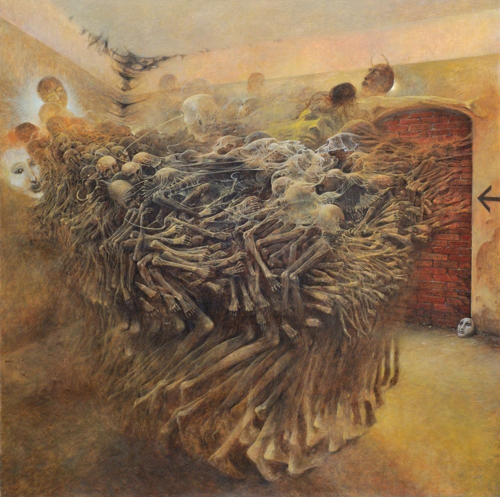 the cursed paintings of zdzisław beksiński article culture pl