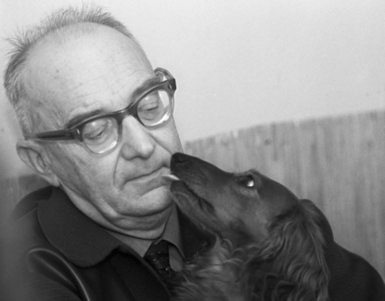 Игорь Неверли с собакой, 1965. Фото: Анджей Шиповский / East News