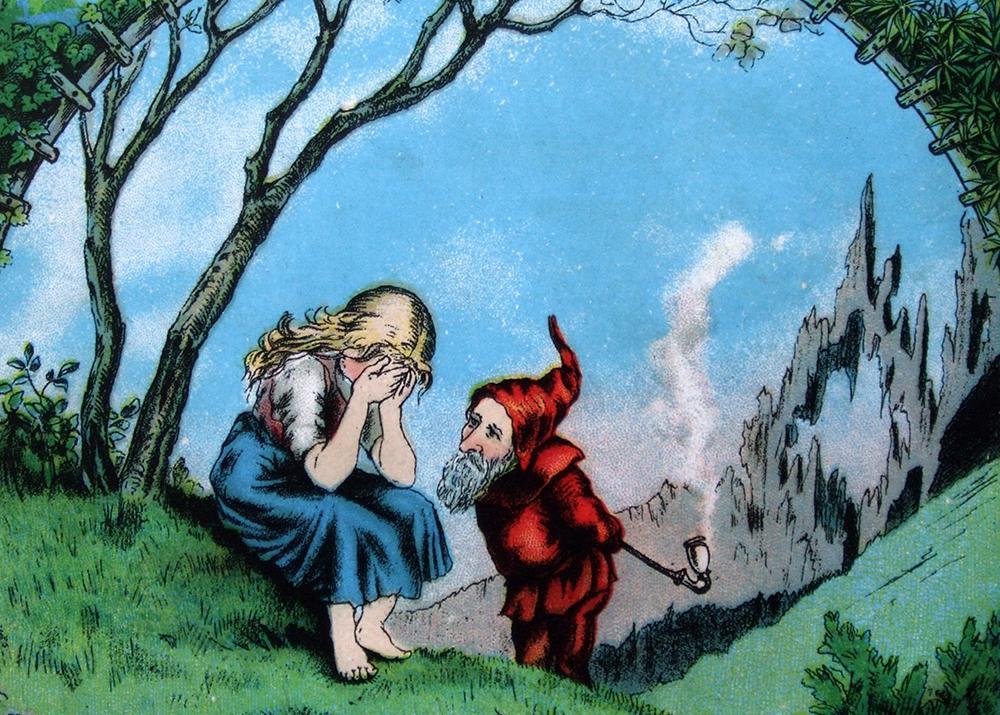 Фрагмент обложки книги для детей Марии Конопницкой «О гномах и сиротке Марысе»