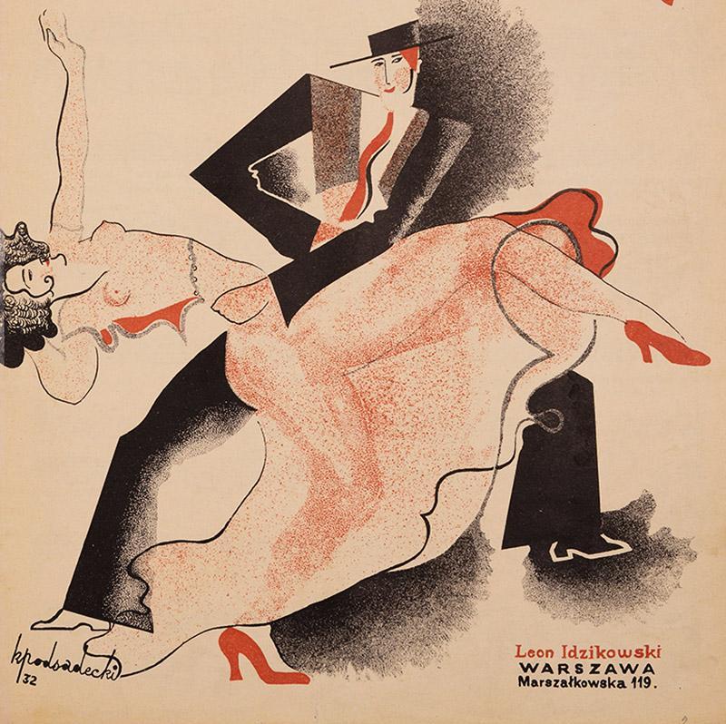 Афиша шоу «Танго Любви» Юлиана Кшевиньского и Леона Идзиковского, фото: Польская национальная библиотека