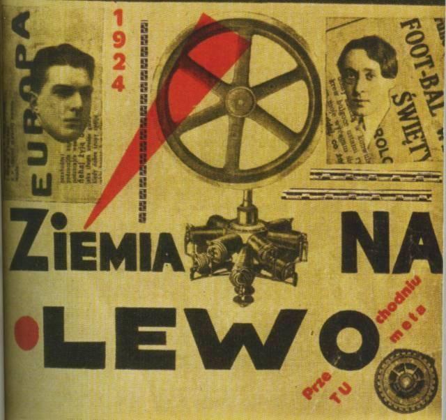 Бруно Ясенский, Анатоль Стерн. «Земля влево», обложка книги 1924 г.