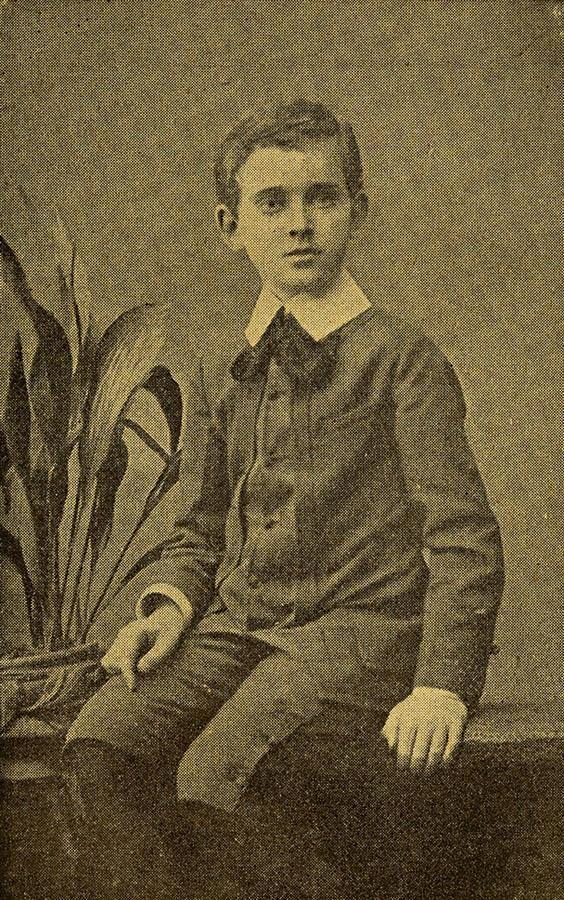 Janusz Korczak w dzieciństwie, ok. 1888, frontispis z