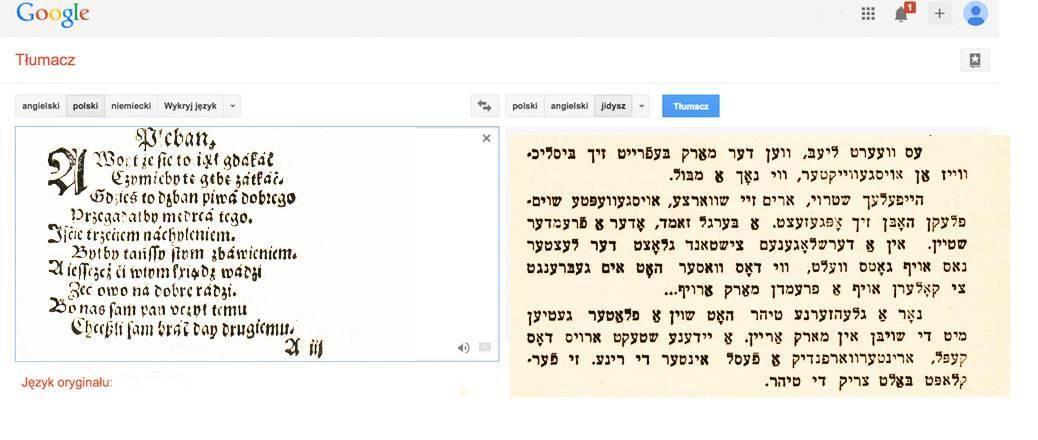 google translate english to jewish