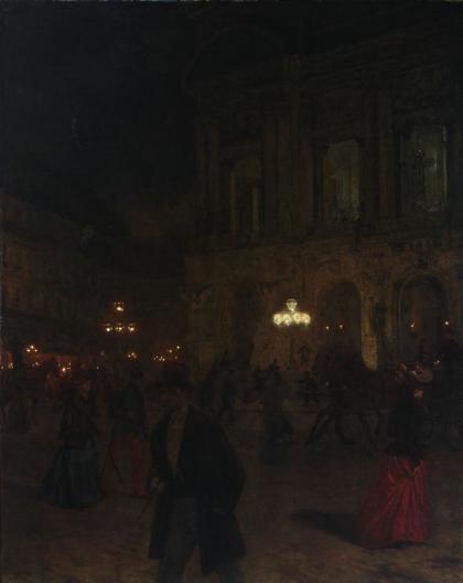 """Recenzje #77 - """"Opera Paryska Palais Garnier historia, sztuka, mit"""" - obraz pt. """"Opera paryska w nocy"""" - Aleksander Gierymski - 1892 r.  - Francuski przy kawie"""