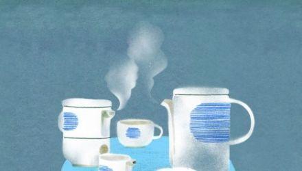 Rysunek: Marianna Sztyma, serwis kawowy
