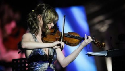 Lisa Batiashvili, the I, CULTURE soloist during the concert at the Maidan in Kiev, photo: IAM