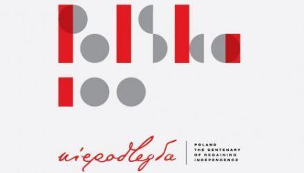 Official logo of the POLSKA100 programme, photo: Adam Mickiewicz Institute