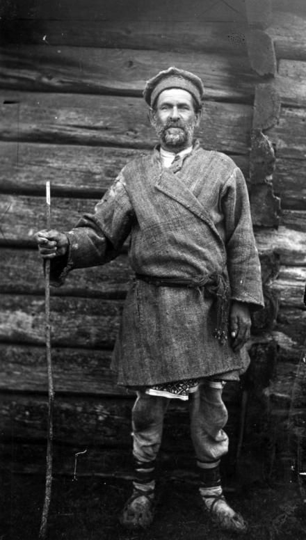 Mieszkaniec powiatu stolińskiego, Polesie, 1935, fot. szukajwarchiwach.gov.pl