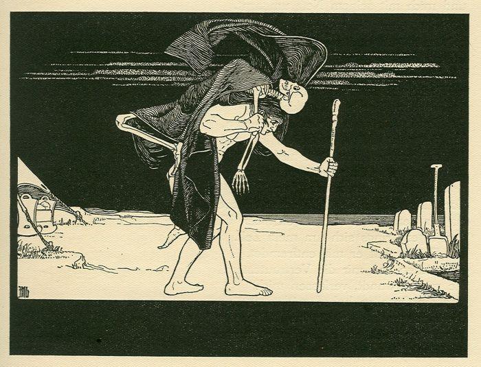 """Dybuk"", Maurycy (Ephraim Moses) Lilien, ilustracja z Księgi Hioba, fot. Wikimedia Commons"