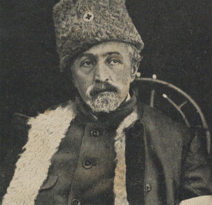 """Szymon An-ski, portret, fotografia ze strony tytułowej książki """"Zniszczenie Galicji"""" Sz. An-skiego, 1928, fot. Biblioteka Narodowa Polona"""