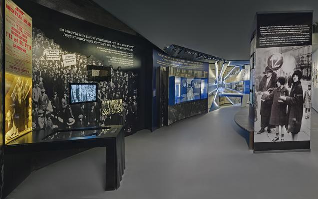 Галерея «На еврейской улице» Основной экспозиции Музея истории польских евреев, Фото Магда Старовейская