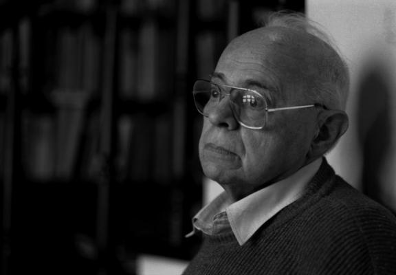 Писатель Станислав Лем, Краков, 1997, фото - Эльжбета Лемпп