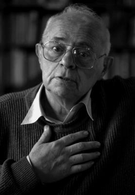Портрет писателя Станислава Лема, сделанный в Кракове в 1997 году, автор фото - Эльжбетта Лемпп