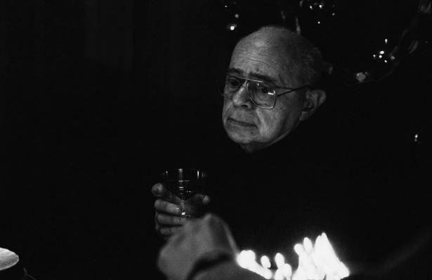Писатель Станислав Лем, снятый в Кракове в 1999 году, фото - Эльжбета Лемпп