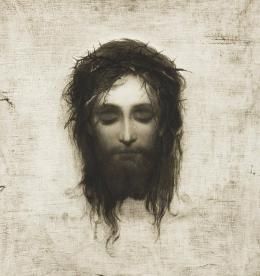 Does the Veil of Veronica hold the key to understanding Polish literature? Squint your eyes to see more... Image: painting by Gabriel von Max; Source: Wikimedia