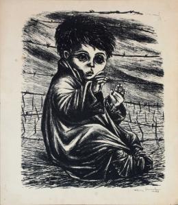 """Fanny Rabel, """"Żydowskie dziecko litografia"""", z kolekcji Palomy Woolrich"""