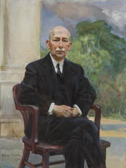 Portrait of Colonel Edward Mandell House, 1932, oil on canvas, 131.5 x 97 cm, photo: Krzysztof Wilczyński/National Museum in Warsaw