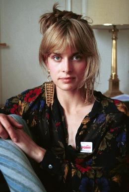Nastazja Kinski with a Solidarność sticker, photo: Jerzy Kośnik/Forum