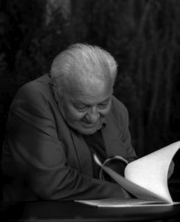 Gustaw Herling-Grudziński, Cracow, 1994, photo: Elżbieta Lempp