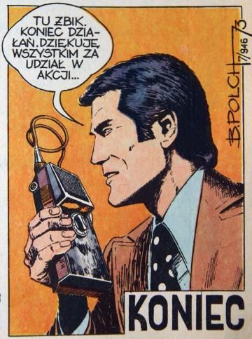 Fragment of one of the comic books in the series Kapitan Żbik or Captain Wildcat, authored by Bogusław Polch, photo: Marek Zajdler/EN