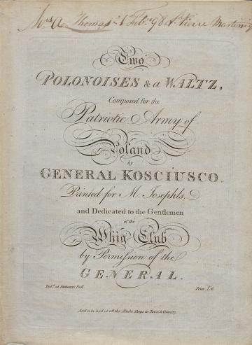 Two polonoises, Kościuszko