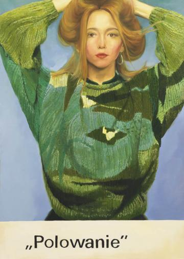 """Paulina Ołowska, """"Polowanie"""", 2010, olej na płótnie, 175 x 125 cm, dzięki uprzejmości Stedelijk Museum, Amsterdam"""