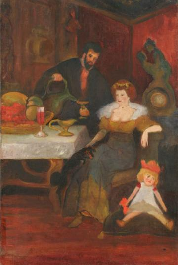 Leon Chwistek, Uczta (The Feast), before 1910, oil on canvas, 74.8 x 50 cm, from the collection of the National Museum in Wrocław, photo: Arkadiusz Podstawka