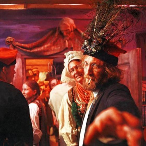 Wojciech Pszoniak in The Wedding, dir. Andrzej Wajda, 1972, photo: Zebra Film Studio/Filmoteka Narodowa /www.fototeka.fn.org.pl