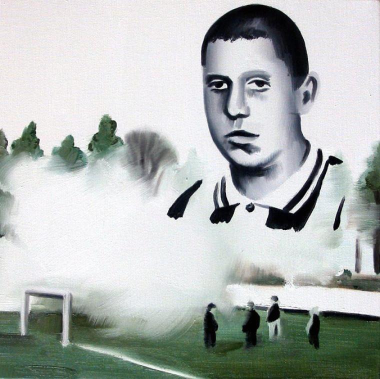 Misiek, Kibic Wisły Kraków (Misiek, Kraków Wisła supporter) by Marcin Maciejowski, 2004, photo: Raster Gallery