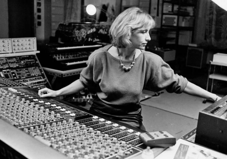 Elżbieta Sikora working at the studio Le Muse en Circuit in the 1980s, photo: P. J. Arkell