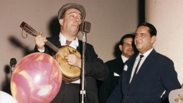 Bal budowniczych Warszawy, 1962, na zdjęciu z lewej: Stanisław Grzesiuk, fot. Zbyszko Siemaszko / Forum