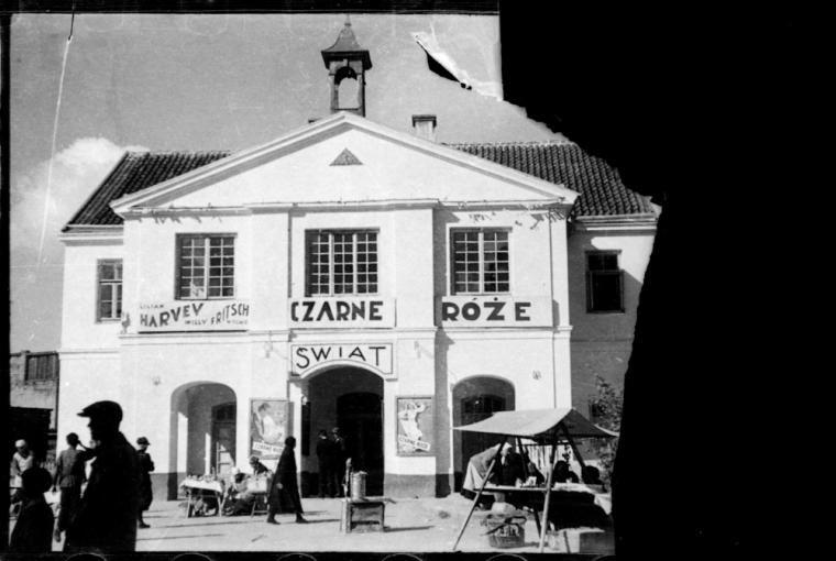 Białystok, zdjęcie z lat 1935-39, Kino Świat, fot. Bolesław Augustis/Albom.pl