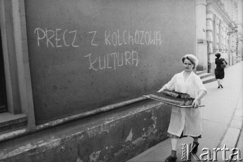 Jesień 1981, Kraków. Ulica Pijarska, fot. Piotr Dylik / Ośrodek KARTA