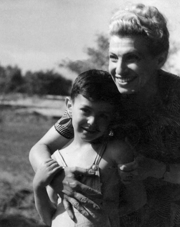 Ида Каминская с сыном Виктором, фото: NCK