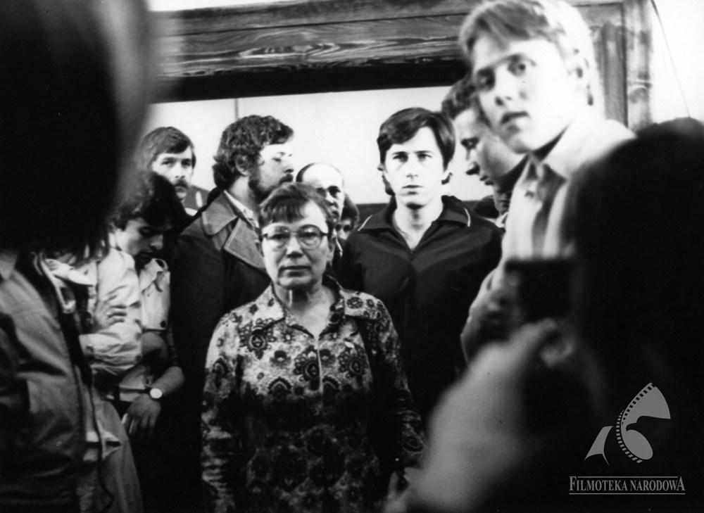 """Anna Walentynowicz, 1981, """"Człowiek z żelaza"""" w reżyserii Andrzeja Wajdy, fot. Renata Pajchel/Filmoteka Narodowa/fototeka.fn.org.pl"""