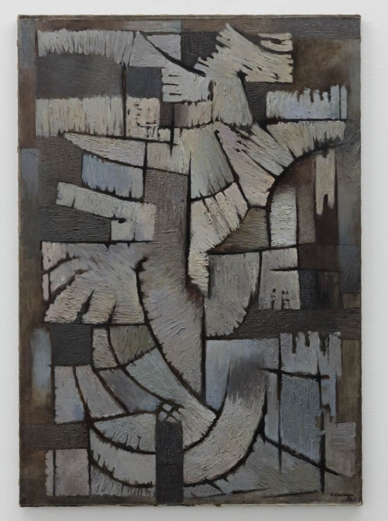 Roman Owidzki The Grey Composition, 1959, oil on canvas, 121 x 84 cm, courtesy of artist's family and Le Guern Gallery, photo: Piotr Bekas