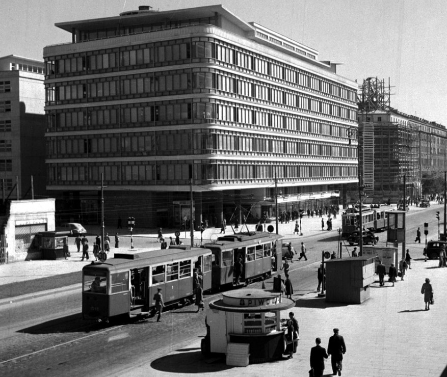 The Smyk department store, which could not be protected from demolition, Warsaw 1951, photo: Zdzisław Wdowiński