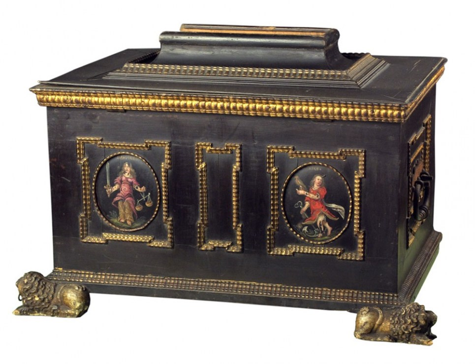 The Soap and Candle Makers Guild's chest, Silesia, 17th century, photo: National Museum in Wrocław