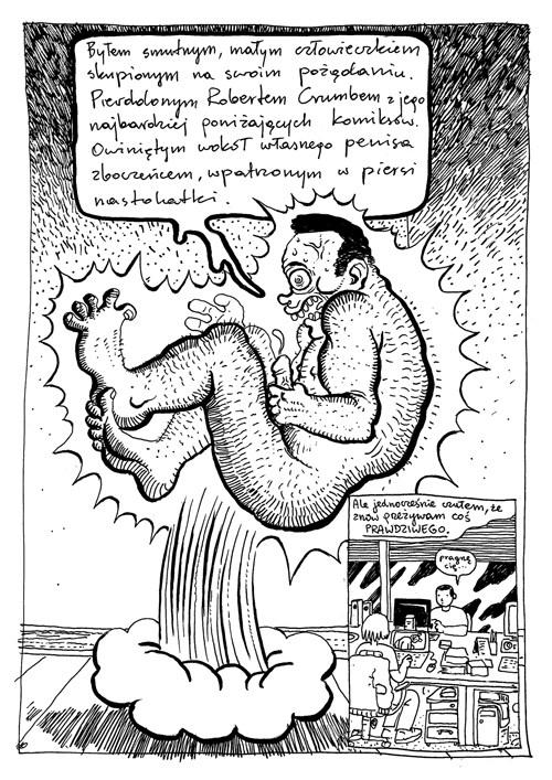 """""""Jak schudnąć 30 kilo? Prawdziwa historia miłosna"""", rys. Maciej Pałka sc. Tomasz Pstrągowski"""
