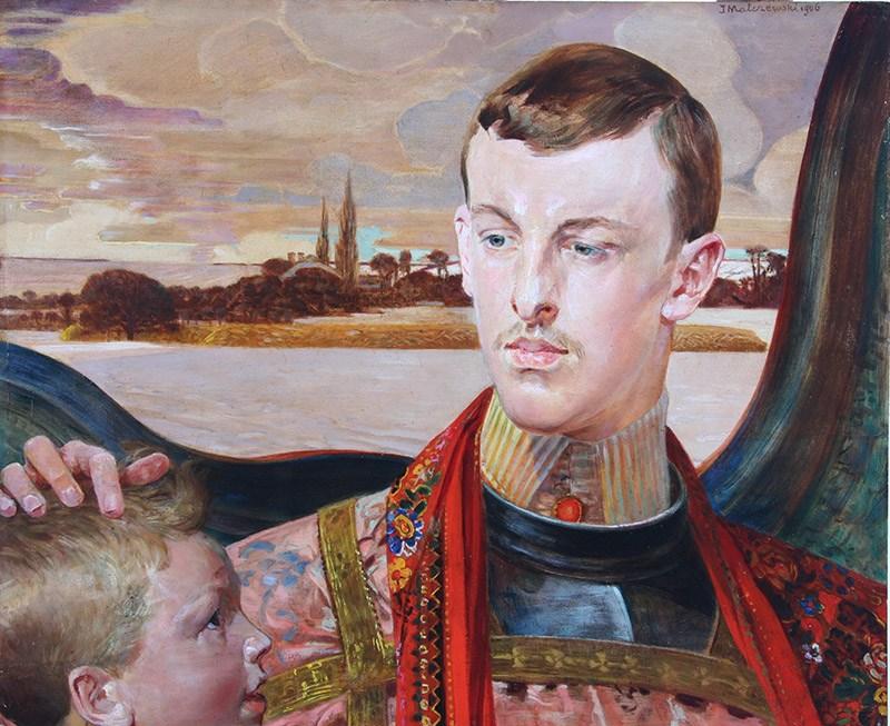 """Jacek Malczewski, """"Portret Pana S."""", fot. Pałacyk Henryka Sienkiewicza w Oblęgork"""