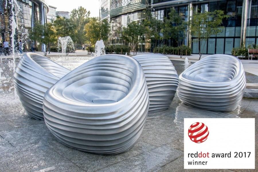 """Pufy """"Riverside"""", projekt: Przemysław """"Mac"""" Stopa / Massive Design dla włoskiej firmy Tonon, fot. materiały prasowe producenta"""