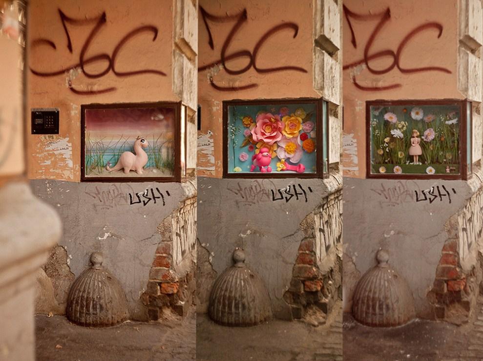 Expositions in Mirella von Chrupek's display, photo: press materials