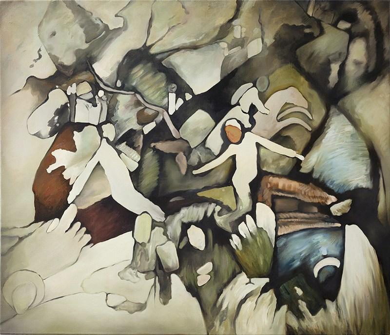 """Ewa Juszkiewicz, """"Bez tytułu (wg Wassily'ego Kandinsky'ego)"""", 2015, fot. materiały prasowe WGW"""