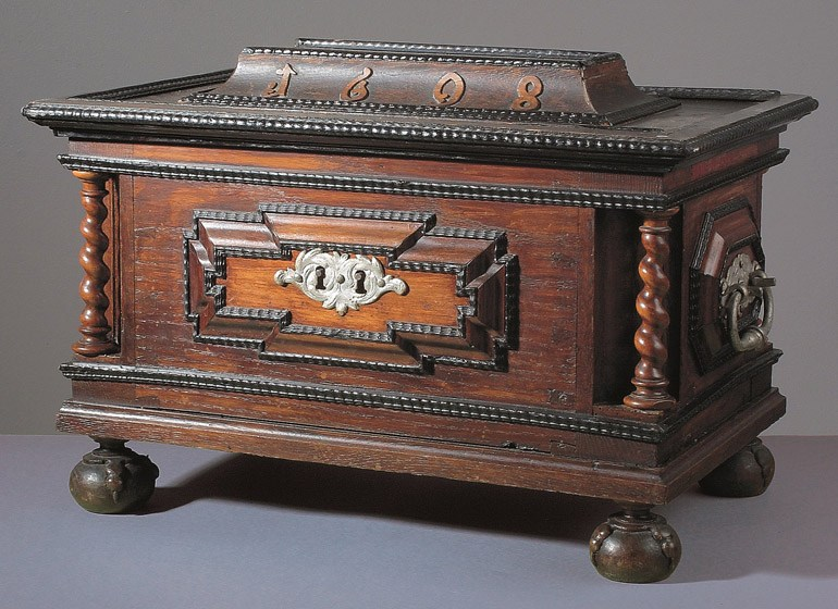 An unknown guild's chest, Silesia, 1698, photo: National Museum in Wrocław