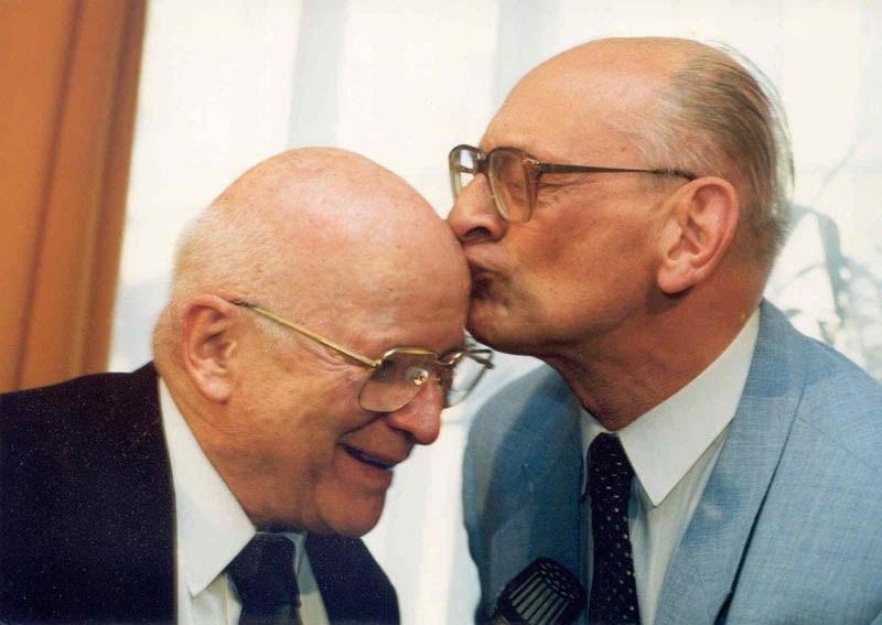 Jan Nowak-Jeziorański i Władysław Bartoszewski, 1995, fot. materiały Muzeum Emigracji
