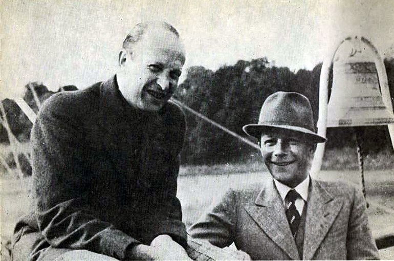 Bohdan Lachert and Józef Szanajca at the Polish General Exhibition in Poznań in 1929, photo: public domain