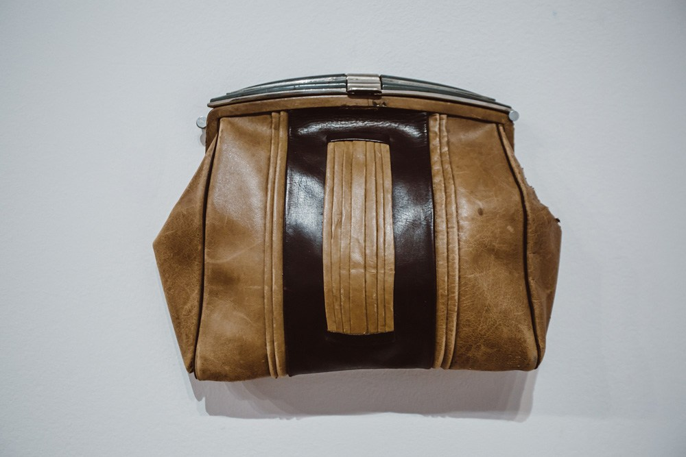 Father Leather Handbag by Anna Bella Geiger, photo: courtesy of the artist