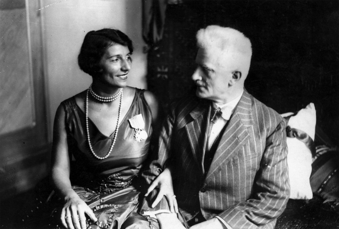 Andrzej Strug z żoną Nelly Grzędzińską, 1929, fot. Narodowe Archiwum Cyfrowe (NAC), audiovis.nac.gov.pl