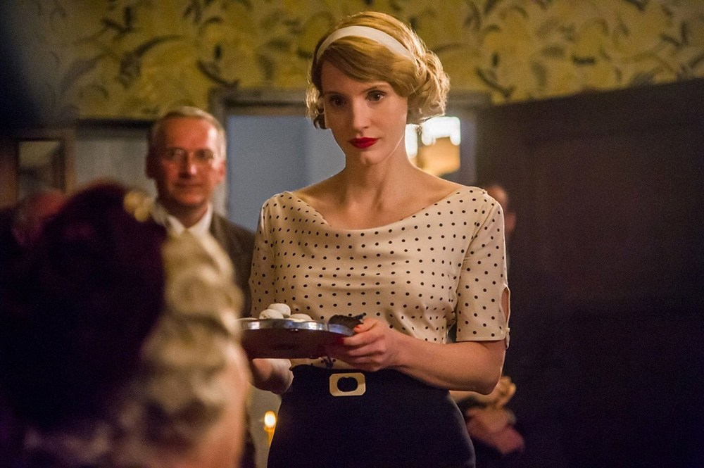 Still from the movie The Zookeeper's Wife directed by Niki Caro, 2016. Pictured: Jessica Chastain, photo: United International Pictures Sp z o.o.